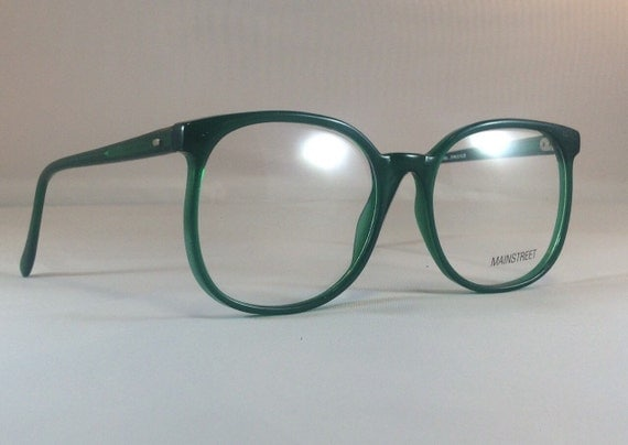 Vintage Green Glasses Frames Oversized Big Huge Wayfarer