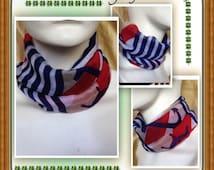 Patriotic scarf-Fourth of July Scarf-scarf with snaps-Baby-Scarf-Toddler Scarf-Baby scarf Bib-Drool Bib-Bibdana-Dribble Bib-Reversible Bib