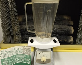 Vintage 1950's Chrome Sears Kenmore Blender - WORKS!