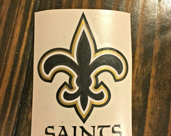 Saints Decal   Who Dat   Football   Sports Decal   Yeti Decal   Fleur De Lis   Rtic Decal   Guy Decal   Sports Fan