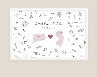 Wedding Guestbook Alternative Sign / Printable Wedding Guestbook Signature Poster / Wedding States Sign, Alternative Guestbook, Guests Sign