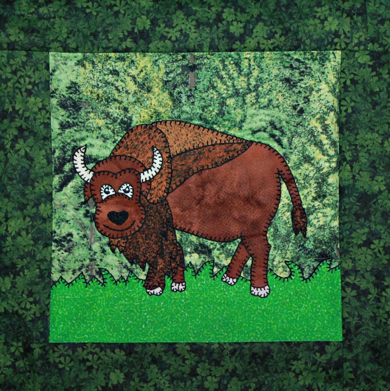 Bison Or Buffalo Pdf Applique Quilt Block Pattern North