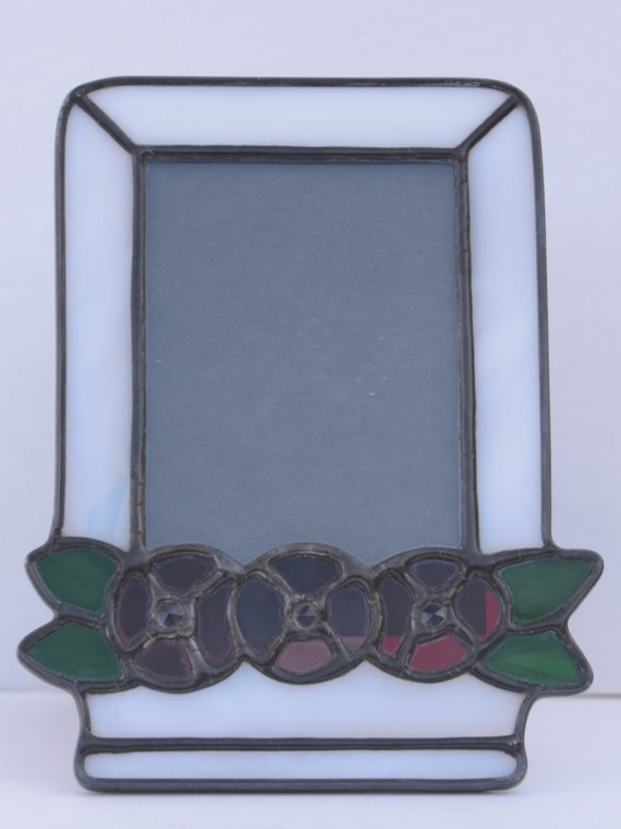 stained glass flower picture frame. Black Bedroom Furniture Sets. Home Design Ideas