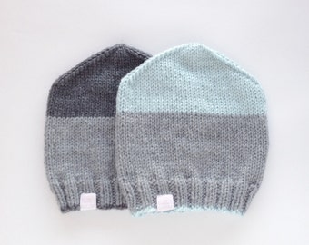 Beanie 'SNUG' handknitted hat in two colors
