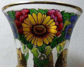 Bohemian Beaker with Transparent Enameling