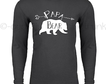 Papa Bear Shirt - Matching Outfit - Papa Bear Top - Papa Bear - Papa Bear Long Sleeve Shirt - Family Outfits