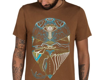 Spin Graphic Men's T-shirt-Ufo-Trance T-shirt-Visionary art-Alien Tee-Science T-shirt-Psychedelic Clothing-Egyptian-Rave clothing