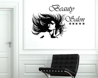 Wall Vinyl Decal Hair Salon Beauty Barbershop Decor 2054di