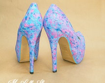 Shoes ~ High Heels ~ Choose your size, Wedding, Sweet 16, Prom, Bridesmaid, Pageant, Party, Ibiza, Clubbing, Hen Party, Bridal Shower