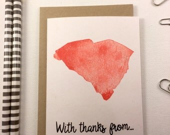 South Carolina - State Love Stationery - Four Bar Cards - Thank You, Hello From, With Love