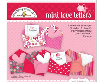 Doodlebug Lovebugs Mini Love Letters, Doodlebug Designs Lovebugs Collection