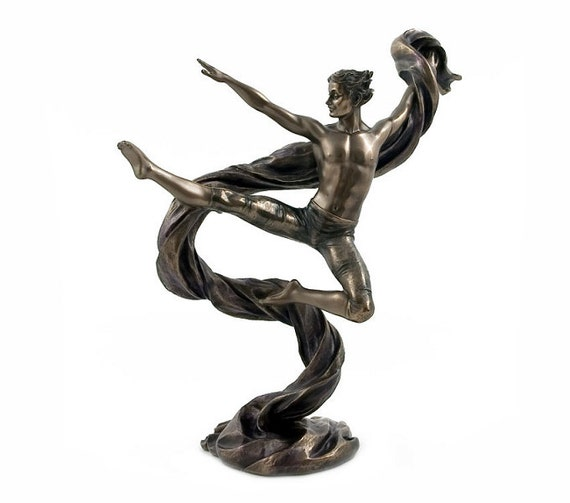 gymnast dancing Statue Figurine Sculpture bronze signature * * * Free Shipping Everywhere * * *
