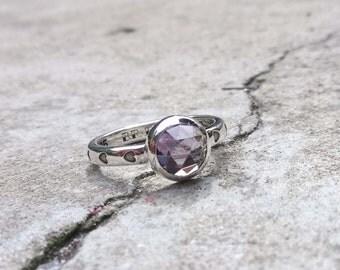 LUELLA, Alexandrite Ring / Sterling Silver / Purple Gemstone Ring