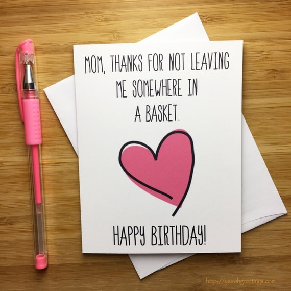 Happy Birthday Mom Birthday Card for Mom Mother Happy