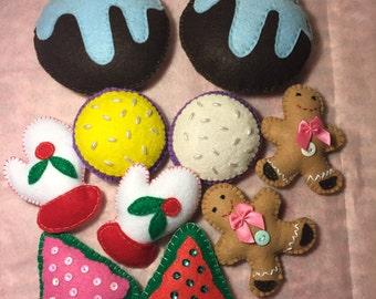 Felt Cookies set of 10