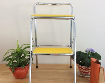 Vintage Cosco Folding Chair-Vintage Booster Seat-Cosco Kitchen Stool