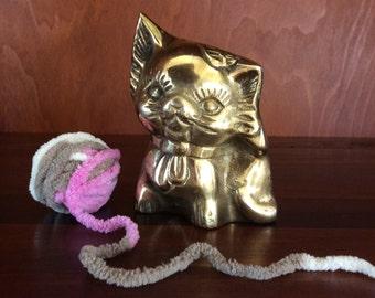 Brass Kitty Cat Bank
