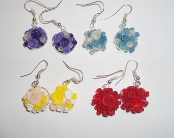Roses bouquet earings