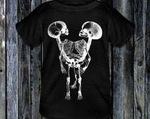 WE ARE SIAMESE - Gothic Baby T-Shirt of Conjoined Twins (Sizes Available: Newborn, 6 Months, 12 Months)