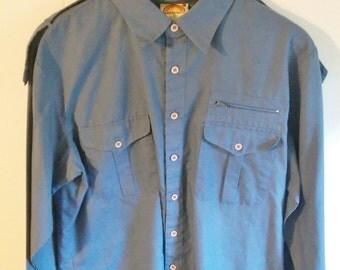 Vintage Light Blue Button Up Shirt