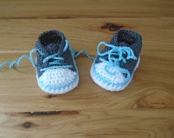 Baby Girl Shoes, Crocheted Baby Sneakers, Baby Shoes, Baby Shower Gift, Boy Girl Sneakers, Tennis Shoes, Newborn Shoes