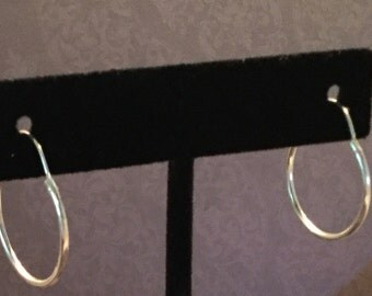 Classic .925 Sterling Silver 1 inch hoops