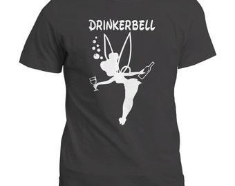 Drinkerbell Funny Tee Top | Hen Festival Party Tshirt | Gift