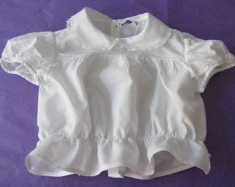 Blouse white cotton ref 11787 baby jacket