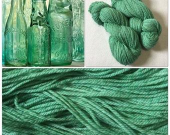 Hand Dyed Yarn, Hand Painted Yarn, DK, Merino, Tweed, Marl, Color: Vintage Glass