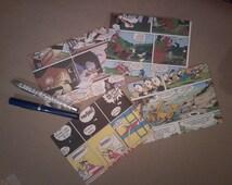 Sets of 5 envelopes - upcycled comic books