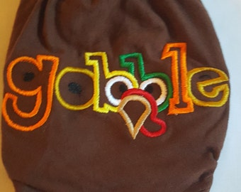"Thanksgiving Diaper Cover ""Gobble"""