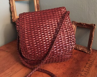 Woven Leather Holt Renfrew Bag