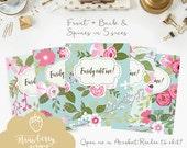 "Floral binder cover printable: ""PINK & BLUE FLOWERS"" 5x set Covers + Spines, Binder insert, Turquoise binder, Spring binder, Flower cover"