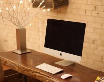 Live Edge Wood Table & Desk Top - Live Edge Table - Wood Slab Desk Table - Live Edge Slab Dining Table - Wood Slab Table - Wood Desk