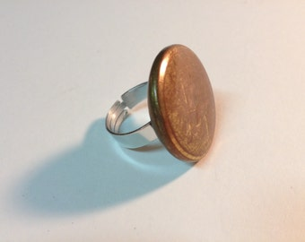 Flat ring 1 button