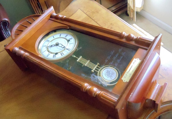 Vintage Large Wall Clock Not Working Statue Of Liberty