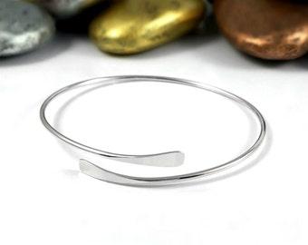 Silver Wrap Bracelet, Thin Silver Bracelet, Wrap Bracelet, Silver Cuff Bracelet, Thin Bracelet, Hammered Bracelet, Silver Bracelet