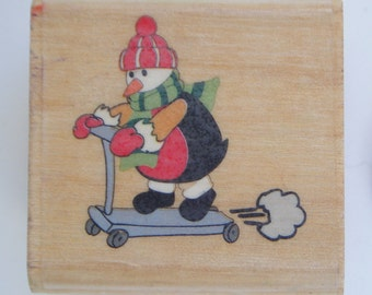 Christmas and winter themed rubber stamps