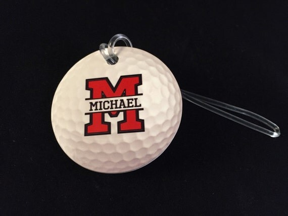 golf bag tag personalized golf gifts golf accessories golf