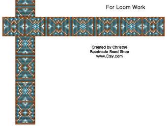 Dark Hour Glass Bead Loom Pattern