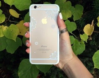 White Floating Petals Phone Case