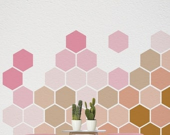 Ombre Wall Decal, Removable Wall Art, Self Adhesive Geometric Stickers