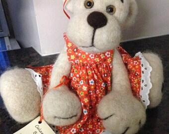 Pure alpaca fibre teddy bear