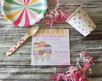 We All Scream For Ice Cream/Birthday/Boy/Girl