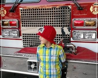 Crocheted Fireman Hat