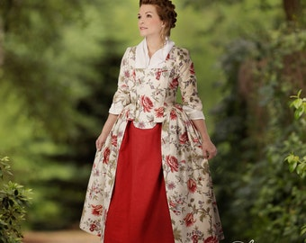 18th Century English Style Gown - Robe a l'Anglaise - Colonial Costume