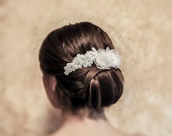 Hair Jewelry - Nicole - Bridal Lace Headpiece wedding bridal hair accessory wedding accessory bridal headpiece wedding hair jewelry