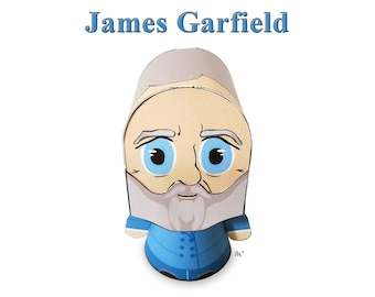 President James Garfield Paper Toy Model w/Movable Parts