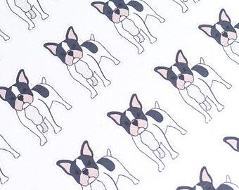 Bulldog Stickers, Dog Planner Stickers, Pet Planner Stickers, Pet Care Stickers, Decorative Stickers, Erin Condren Stickers, MAMBI Stickers