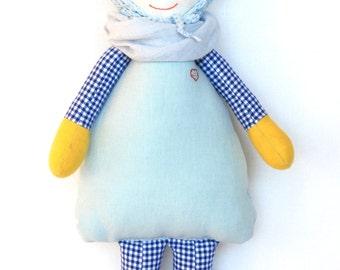 Baby doll boy MATTHEW, Handmade Doll, Fabric Doll, Soft Doll, baby shower, Stuffed Doll, Homemade Dolls